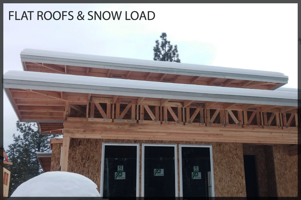 Flat roofs and snow loads arbor builders for Snow loads on roofs